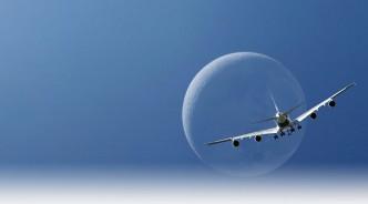 A340 sobre Luna