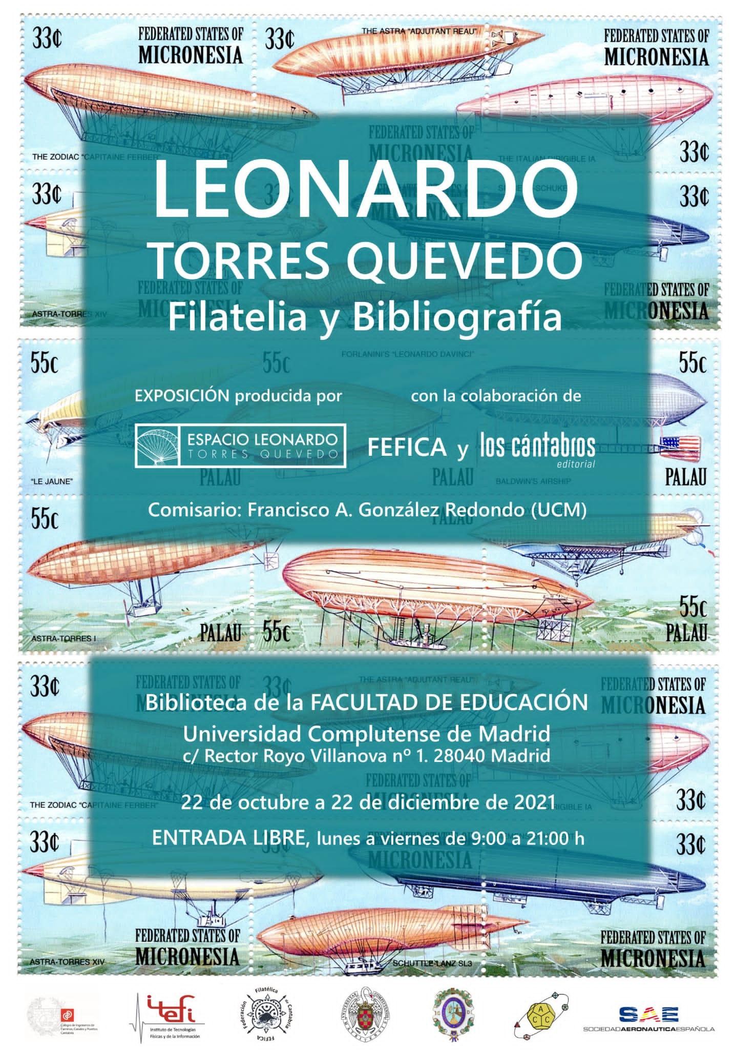 La SAE colabora en la exposición «Leonardo Torres Quevedo, Filatelia y Bibliografía»